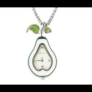 Marc Jacobs Green Pear Watch Necklace